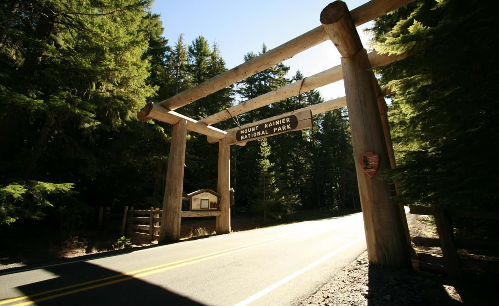 Entrance to Mount Rainier National Park