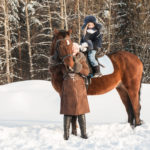 Winter horseback rides at EZ Outfitters