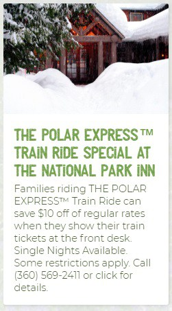 National Park Inn Polar Express Lodging Special