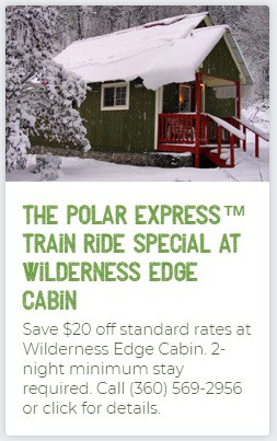 Wilderness Edge Polar Express Lodging Special
